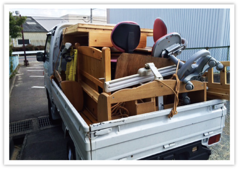 不用品回収、粗大ごみ回収、引越しゴミ回収